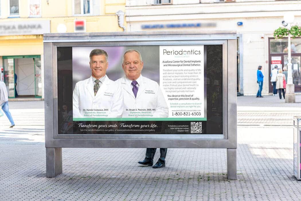periodontics bus stop advertising